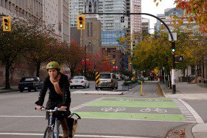 Dunsmuir Separated Bike Lane