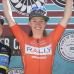 Rally Cycling rider Emma White victorious at the Stage 4, Silver City criterium, Tour of the Gila 2017