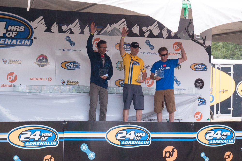 Men's Under 40 Solo Category: 1st Ryan Gardiner, 2nd Yannick Bouet, 3rd Scott Lahrs