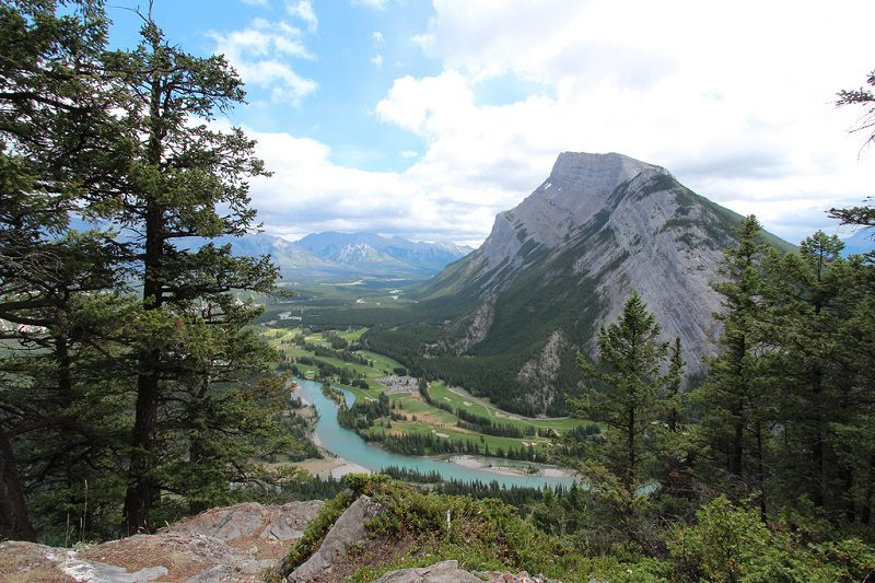 The Bow River Valley, with communities like Banff, is one of the most beautiful places in Canada to explore by bike. (Image: davebloggs007 via Compfight cc )