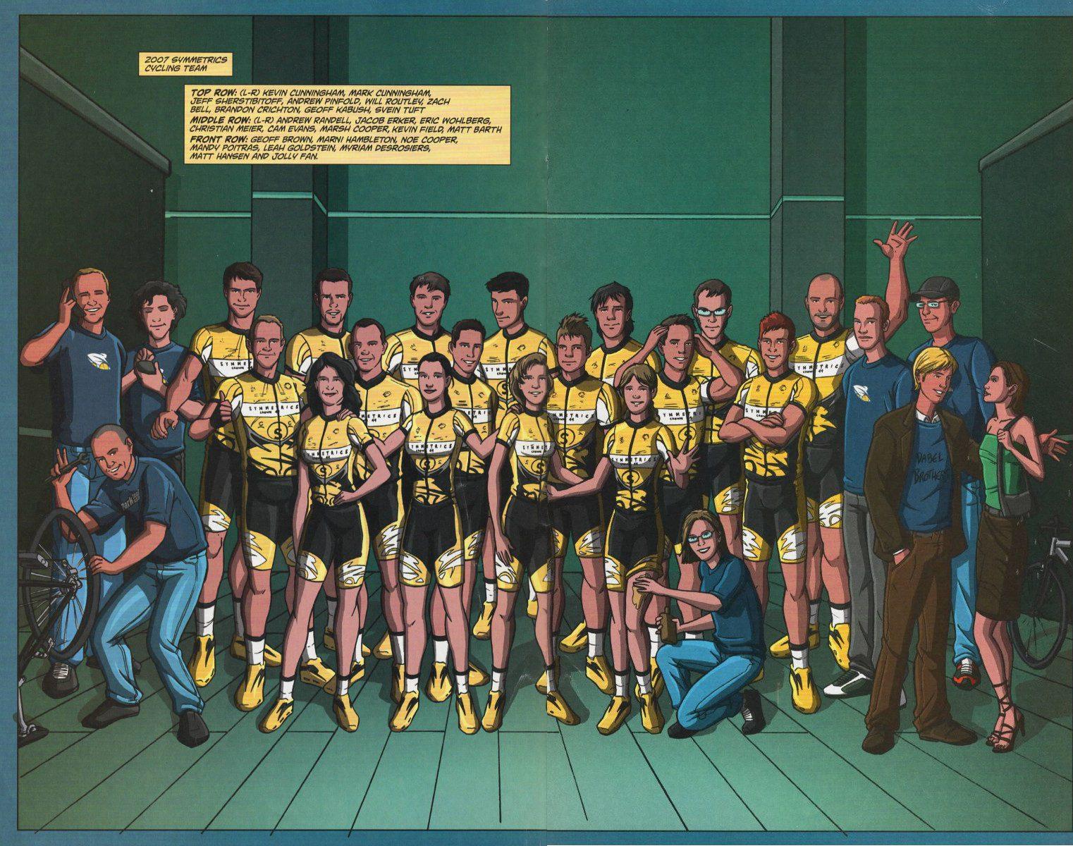 2007 Symmetrics Pro Cycling Team comic