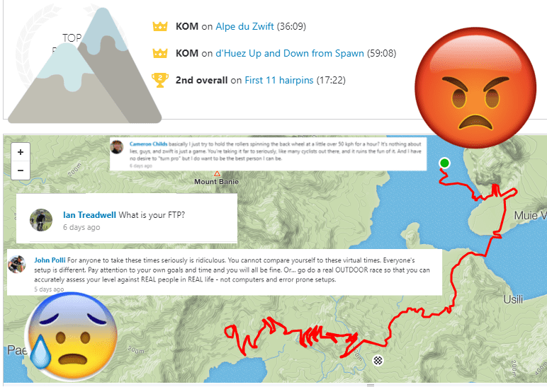 Canadian's Alpe du Zwift Strava KOM causes considerable