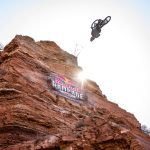 Tom Van Steenbergen competes at Red Bull Rampage in Virgin, Utah, USA on 26 October, 2018. // Garth Milan/Red Bull Content Pool // AP-1XAYRX8T92111 // Usage for editorial use only // Please go to www.redbullcontentpool.com for further information. //