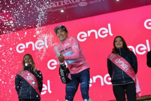 25-05-2019 Giro D'italia; Tappa 14 Saint Vincent – Courmayeur; 2019, Movistar; Carapaz Antonio, Richard Antonio; Courmayeur;